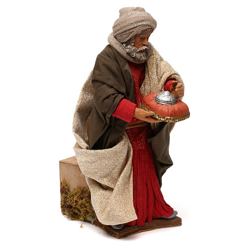 STOCK Tres Reyes Magos en movimiento belén napolitano 24 cm 8