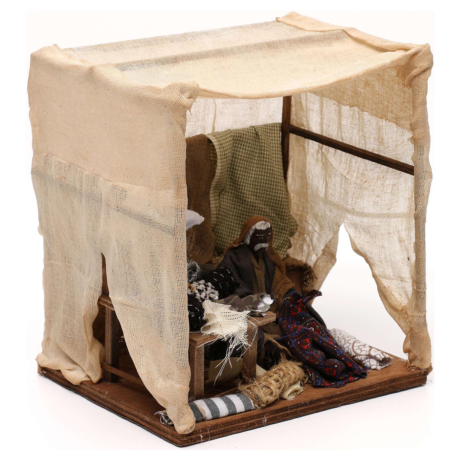 Sarto con tenda in movimento presepe napoletano 12 cm 4