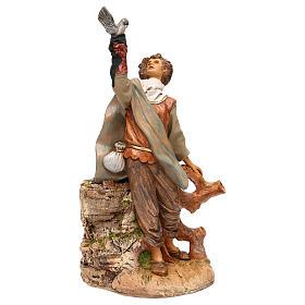 Figuras em Movimento para Presépio: Falcoeiro Fontanini movimento para presépio com figuras de 30 cm de  altura média