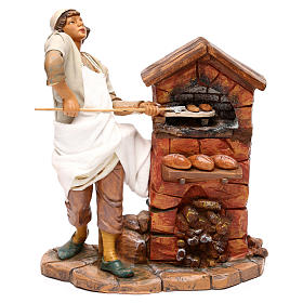 Figuras em Movimento para Presépio: Padeiro Fontanini movimento e forno para presépio com figuras de 30 cm de  altura média