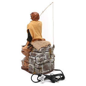 Young fisher with removable rod movement, Fontanini 30 cm nativity s3