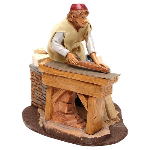 Carpenter with planer and movement, Fontanini 19 cm nativity 1