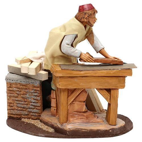 Carpenter with planer and movement, Fontanini 19 cm nativity 2