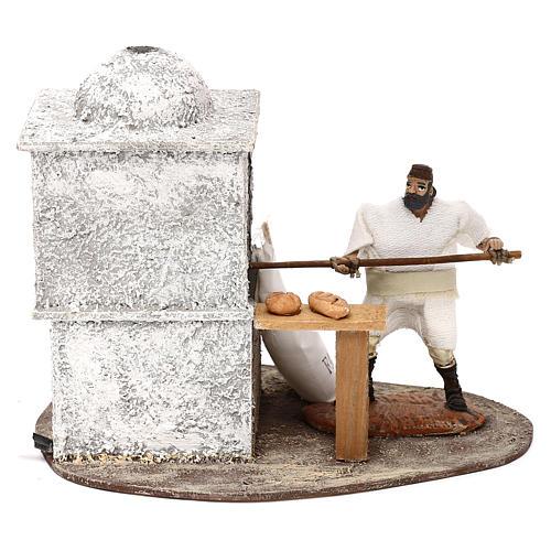 Fornaio Oliver con movimento e forno per presepi di 10 cm 1