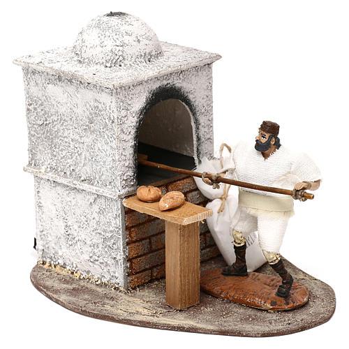 Fornaio Oliver con movimento e forno per presepi di 10 cm 2