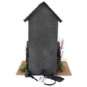 Maison femme qui descend un panier par la fenêtre 40x30x20 cm mouvement crèche 12 cm s4
