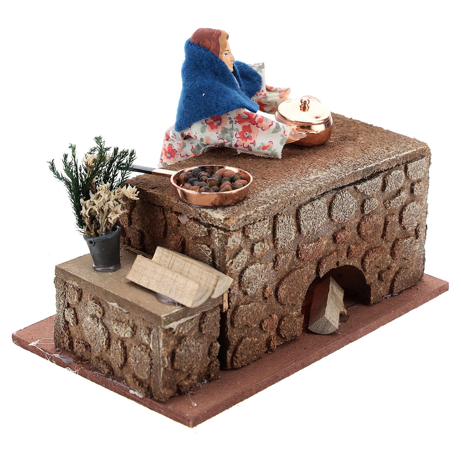 Moving cook 12 cm for Nativity scene 3