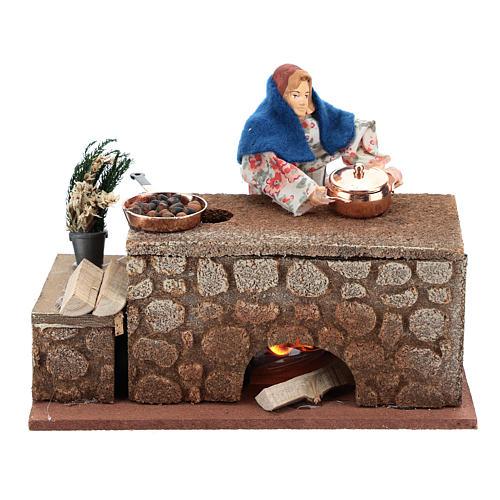 Moving cook 12 cm for Nativity scene 1
