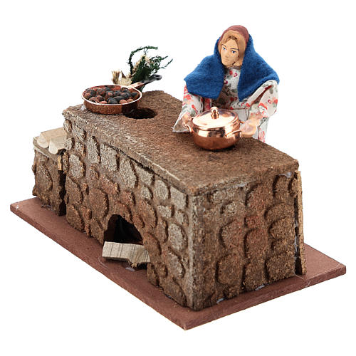 Moving cook 12 cm for Nativity scene 2
