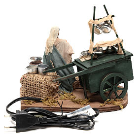 Potter with wagon and pots of 18x19x10 cm for Neapolitan Nativity Scene of 10 cm s4