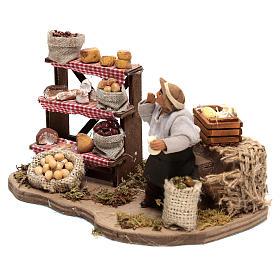 Venditore di formaggi movimento di 10x20x10 cm per presepe Napoli di 10 cm  s2