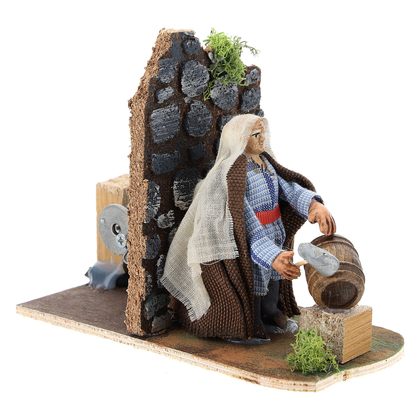 Moving man fixing barrels for Neapolitan Nativity Scene 7 cm 4