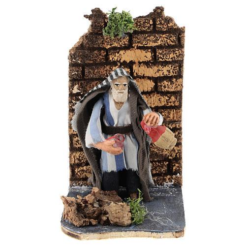 Moving innkeeper for Neapolitan Nativity Scene 7 cm 1