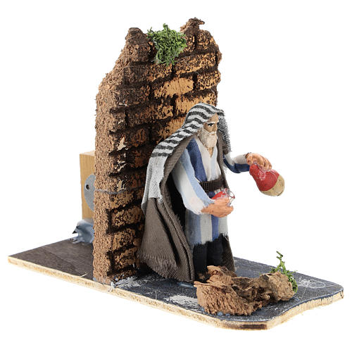 Moving innkeeper for Neapolitan Nativity Scene 7 cm 3