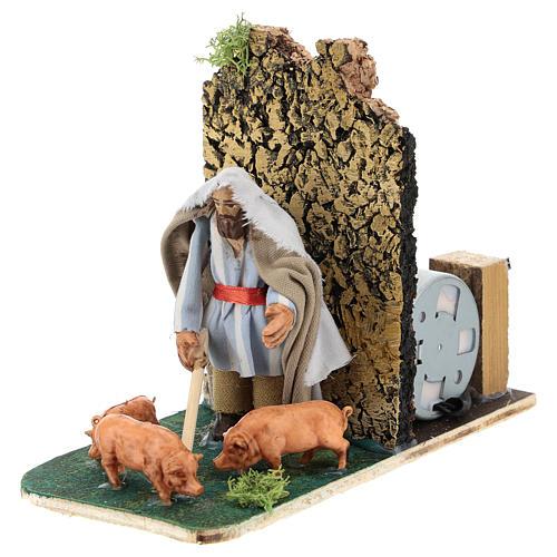 Moving pig breeder for Neapolitan Nativity Scene 7 cm 2