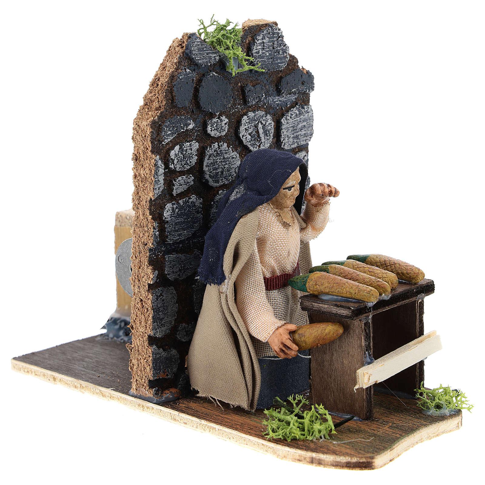 Moving corncob seller for Neapolitan Nativity Scene 7 cm 4