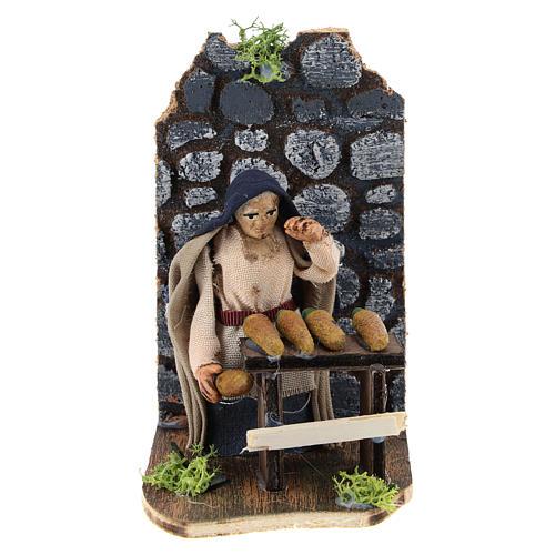 Moving corncob seller for Neapolitan Nativity Scene 7 cm 1