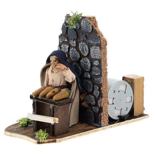Moving corncob seller for Neapolitan Nativity Scene 7 cm 2