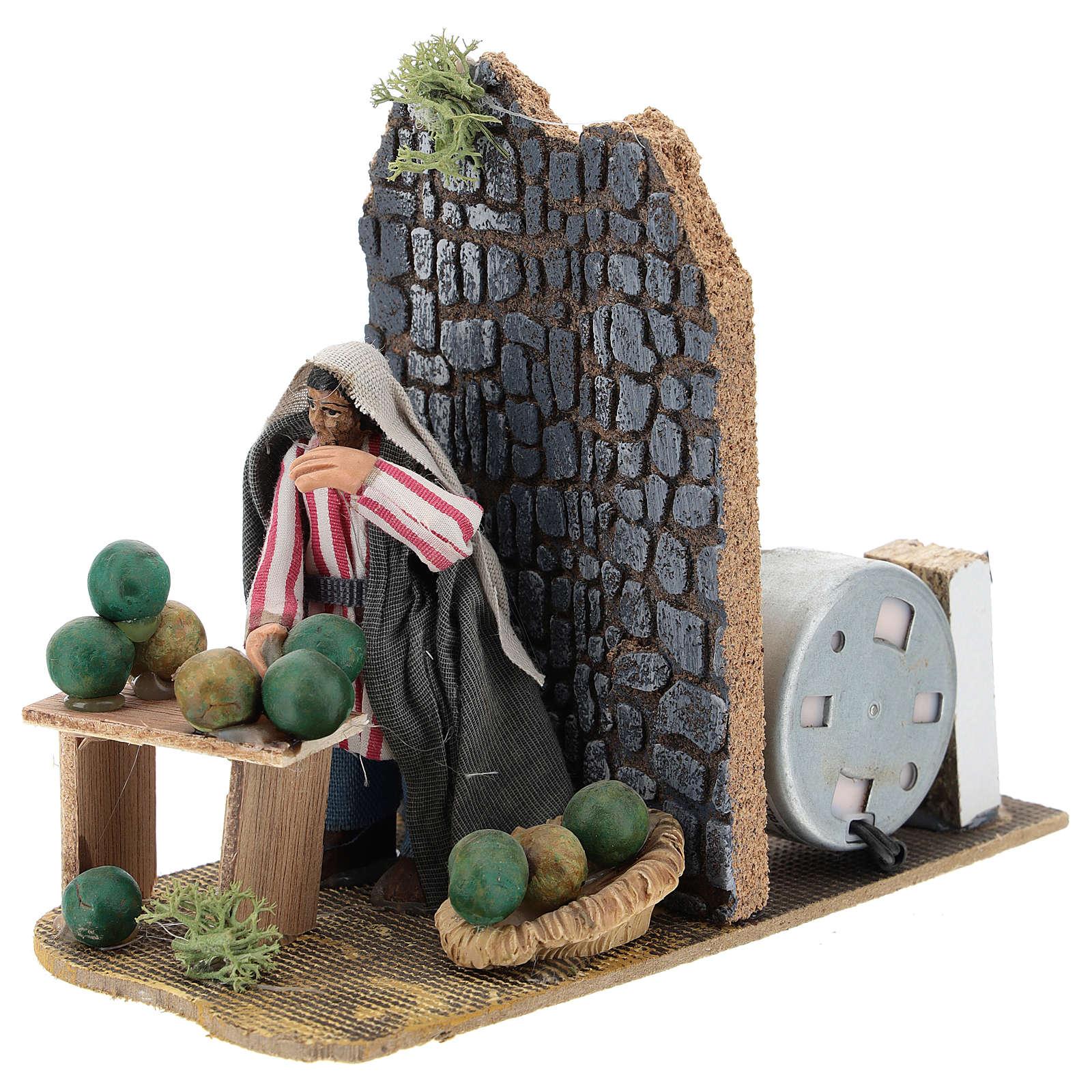 Moving melon seller for Neapolitan Nativity Scene 7 cm 4