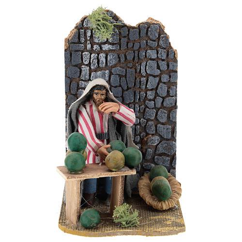 Moving melon seller for Neapolitan Nativity Scene 7 cm 1