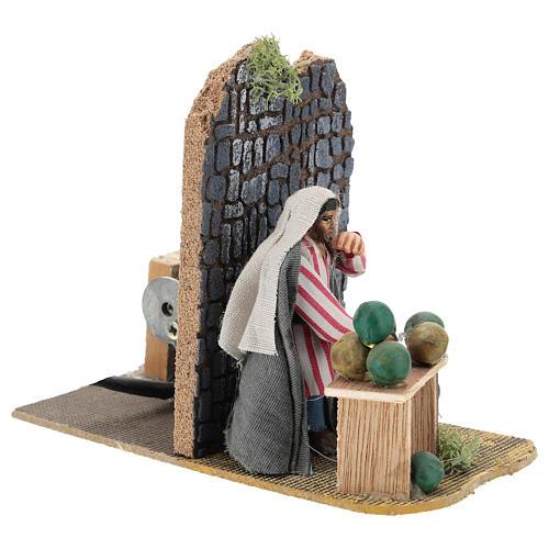 Moving melon seller for Neapolitan Nativity Scene 7 cm 3