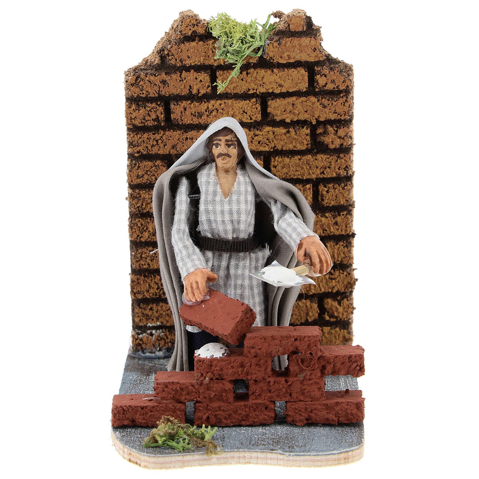 Moving mason for Neapolitan Nativity scene 7 cm 4
