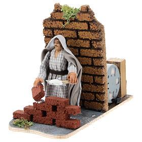 Moving mason for Neapolitan Nativity scene 7 cm s2