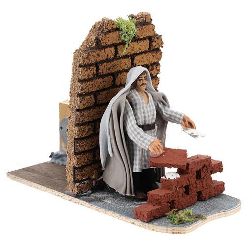 Moving mason for Neapolitan Nativity scene 7 cm 3