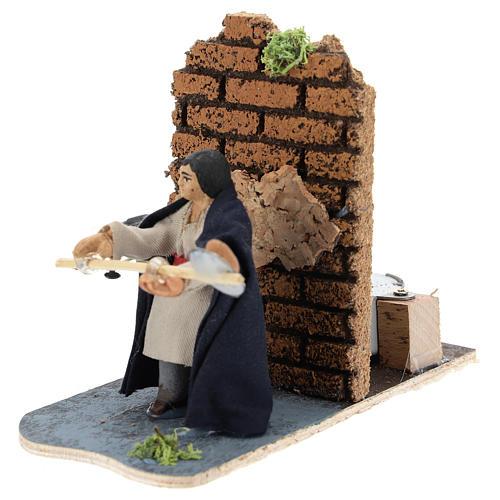 Moving baker for Neapolitan Nativity Scene 7 cm 2