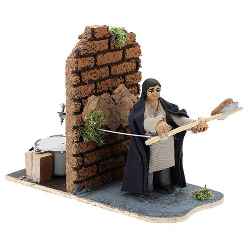 Moving baker for Neapolitan Nativity Scene 7 cm 3