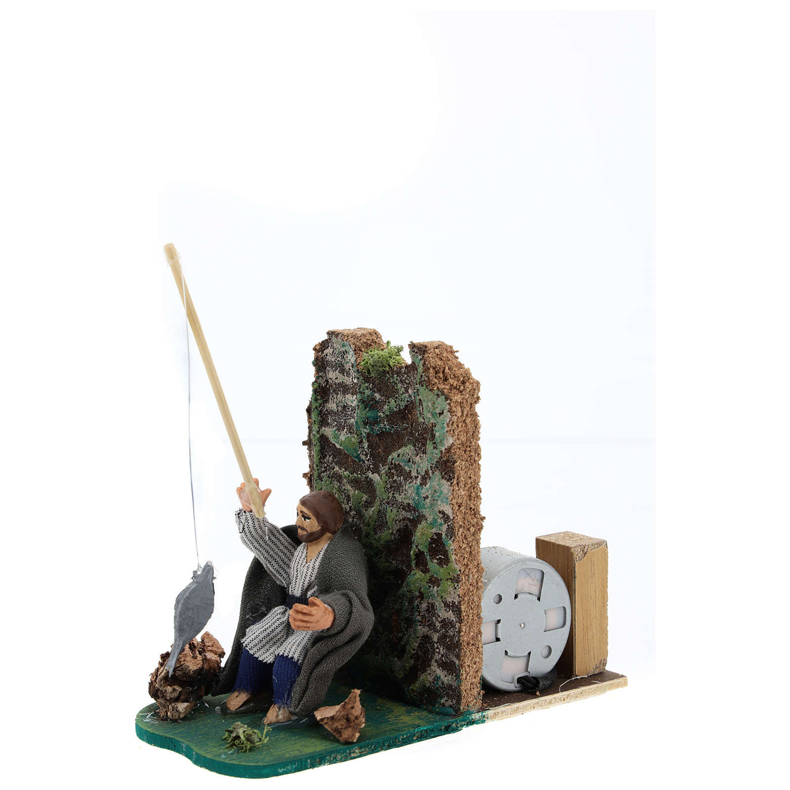 Moving fisherman for Neapolitan Nativity Scene 7 cm 4
