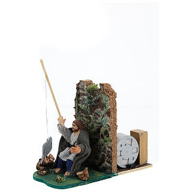 Moving fisherman for Neapolitan Nativity Scene 7 cm s2