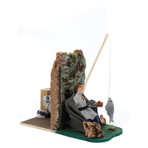 Moving fisherman for Neapolitan Nativity Scene 7 cm 3