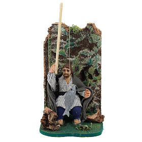 Presépio Napolitano: Pescador em movimento para presépio napolitano com figuras  de 7 cm de altura média