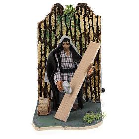 Presépio Napolitano: Carpinteiro em movimento para presépio napolitano com figuras  de 7 cm de altura média