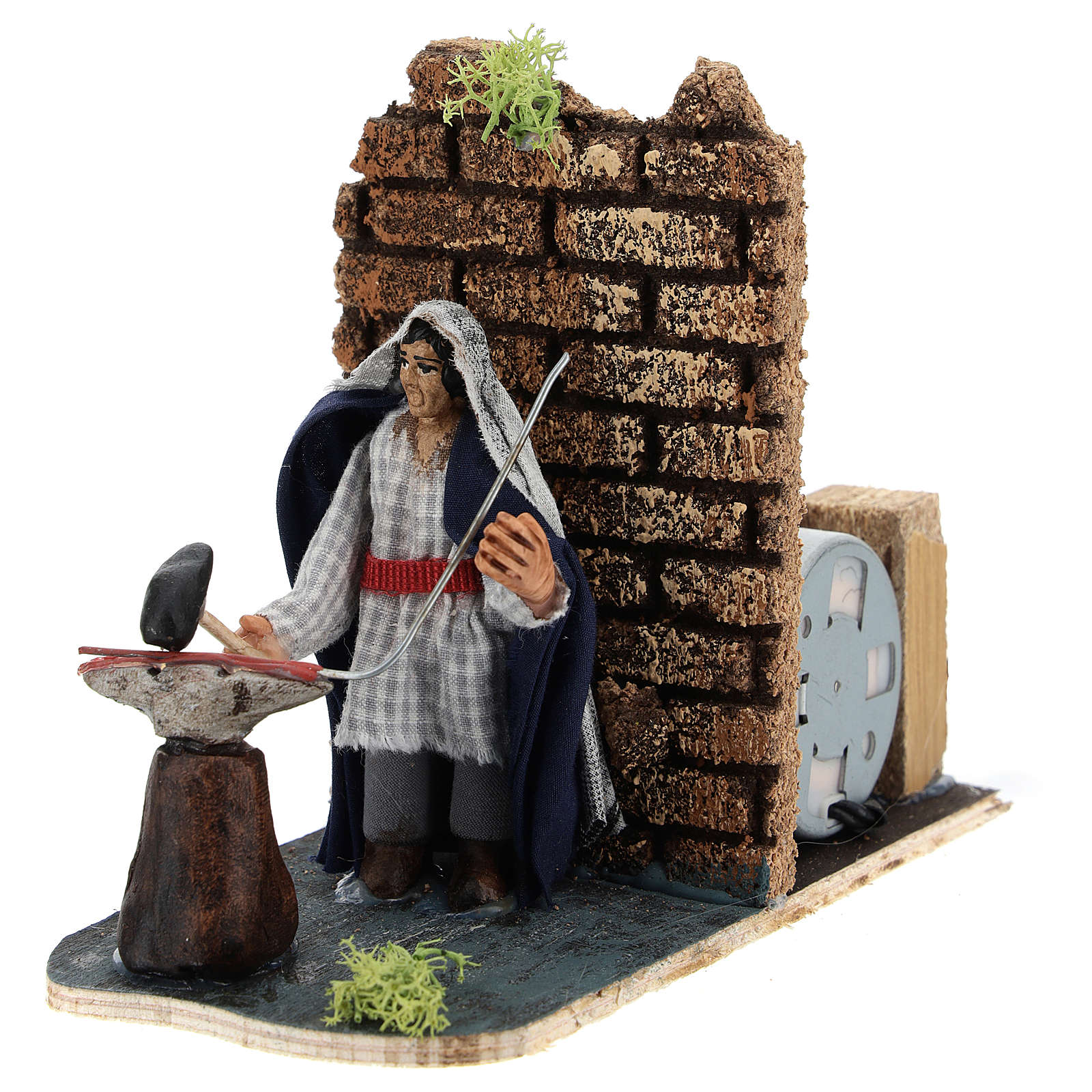 Moving blacksmith for Neapolitan Nativity Scene 7 cm 4