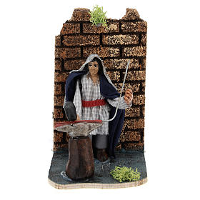 Moving blacksmith for Neapolitan Nativity Scene 7 cm s1