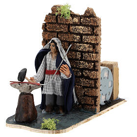 Moving blacksmith for Neapolitan Nativity Scene 7 cm s2