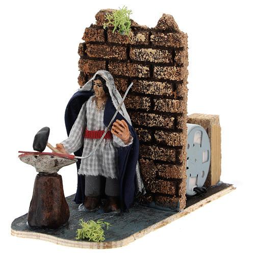 Moving blacksmith for Neapolitan Nativity Scene 7 cm 2