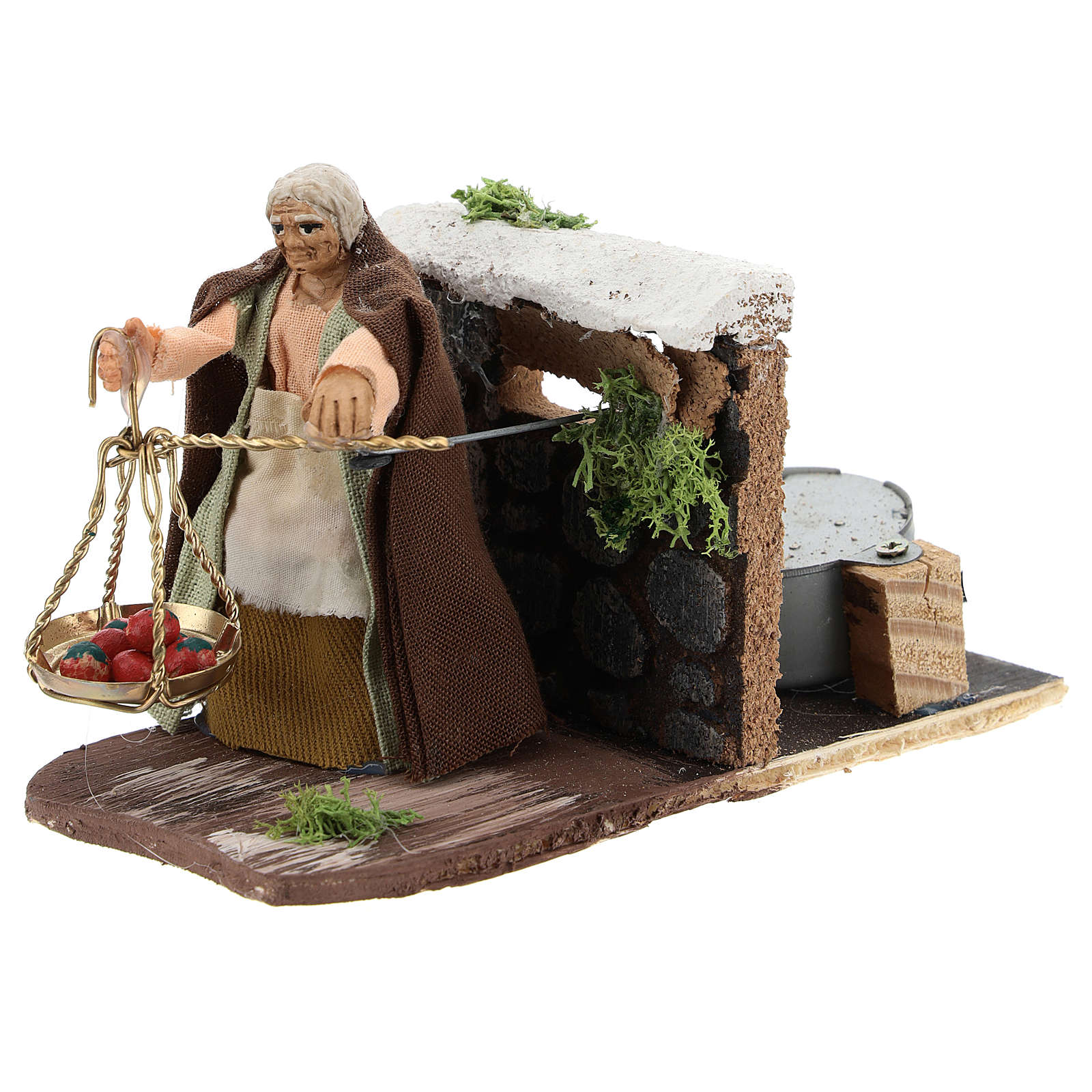 Moving peasant with scale for Neapolitan Nativity Scene 7 cm 4