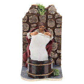 Moving laundress for Neapolitan Nativity Scene 7 cm s1