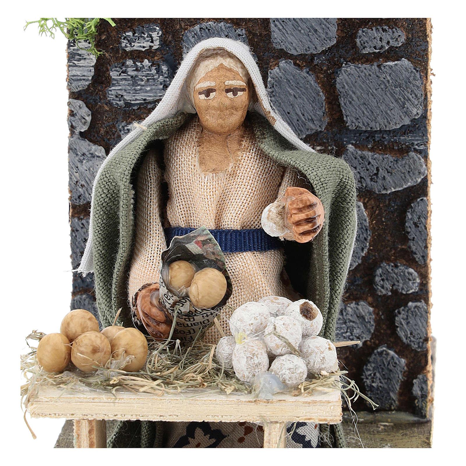 Moving egg seller for Neapolitan Nativity Scene 7 cm 4