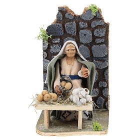 Moving egg seller for Neapolitan Nativity Scene 7 cm s1