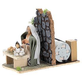 Moving egg seller for Neapolitan Nativity Scene 7 cm s3