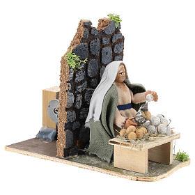 Moving egg seller for Neapolitan Nativity Scene 7 cm s4
