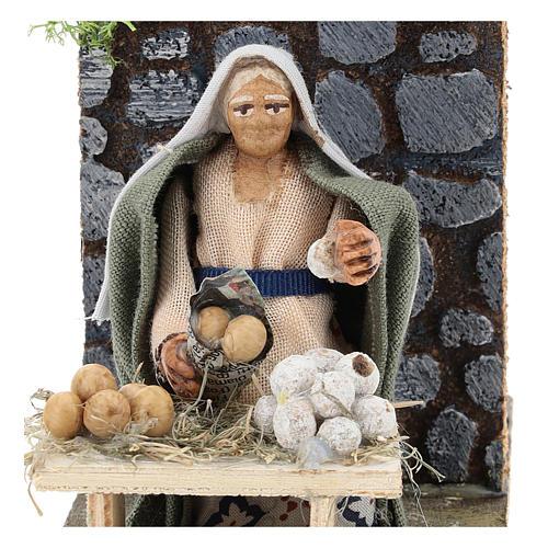 Moving egg seller for Neapolitan Nativity Scene 7 cm 2
