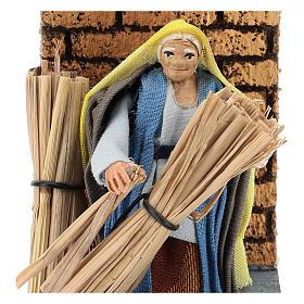 Moving farmer with hay for Neapolitan Nativity Scene 7 cm s2