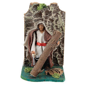Moving woodcutter for Neapolitan Nativity Scene 7 cm s1
