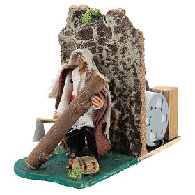 Moving woodcutter for Neapolitan Nativity Scene 7 cm s3