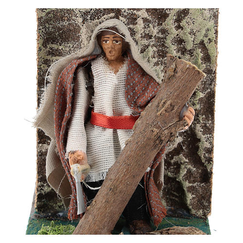 Moving woodcutter for Neapolitan Nativity Scene 7 cm 2
